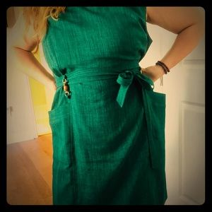 Ellen Tracy emerald green dress